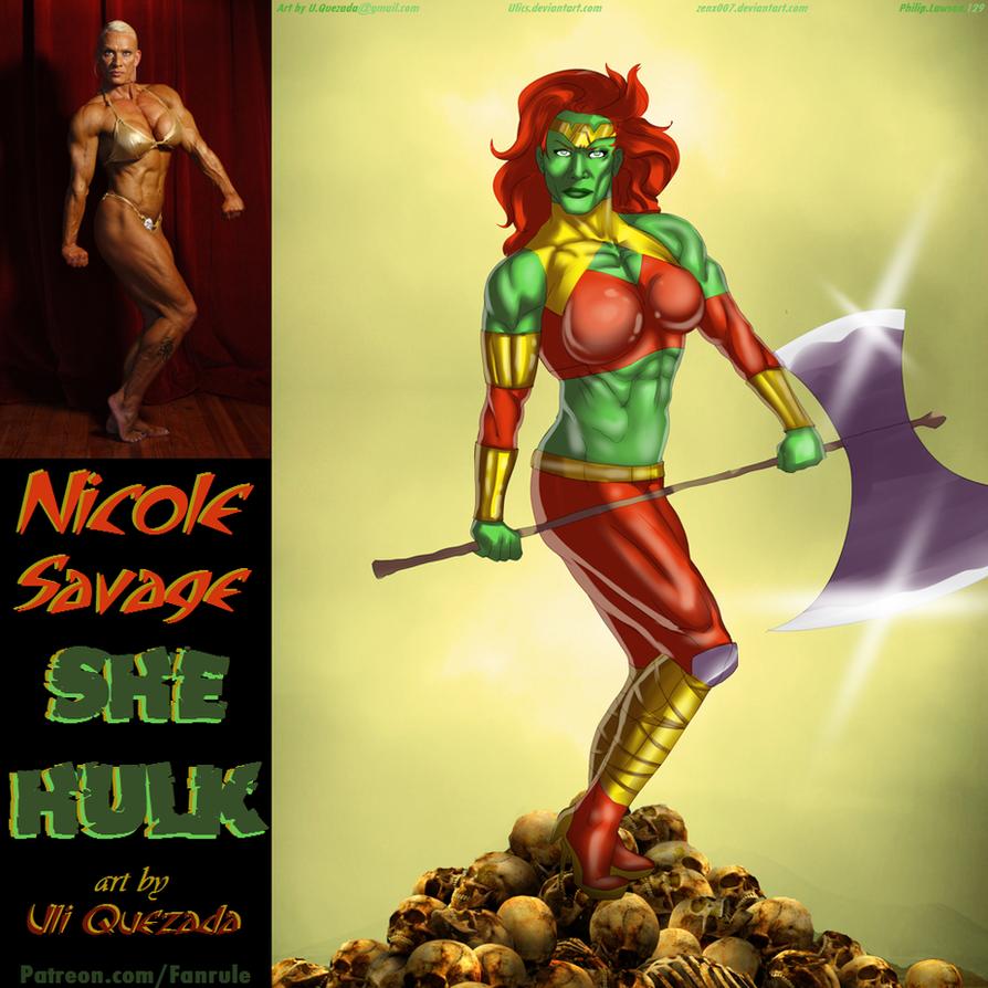 Nicole Savage She-Hulk By Ulics by zenx007