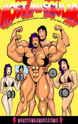 MOST MUSCULAR Sample 1 By MightyFemaleMuscleComix by zenx007