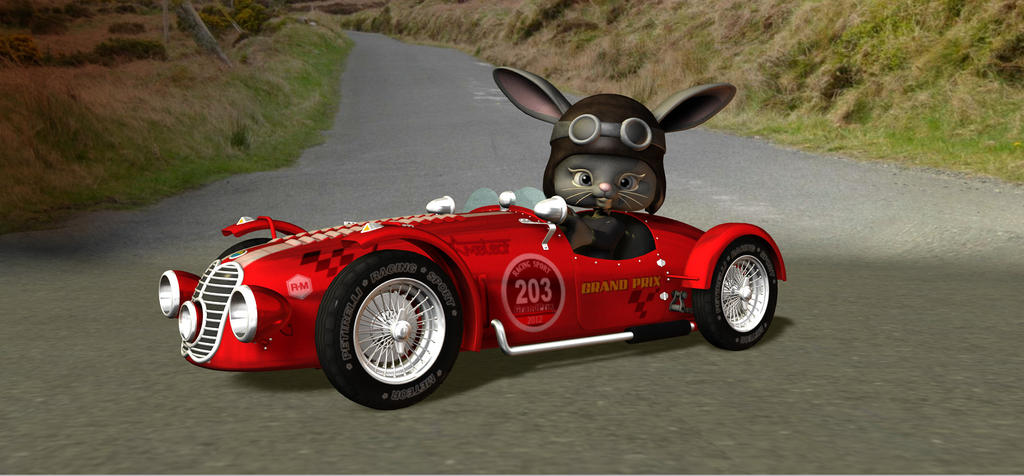 Racer Rabbit 2 by HectorNY