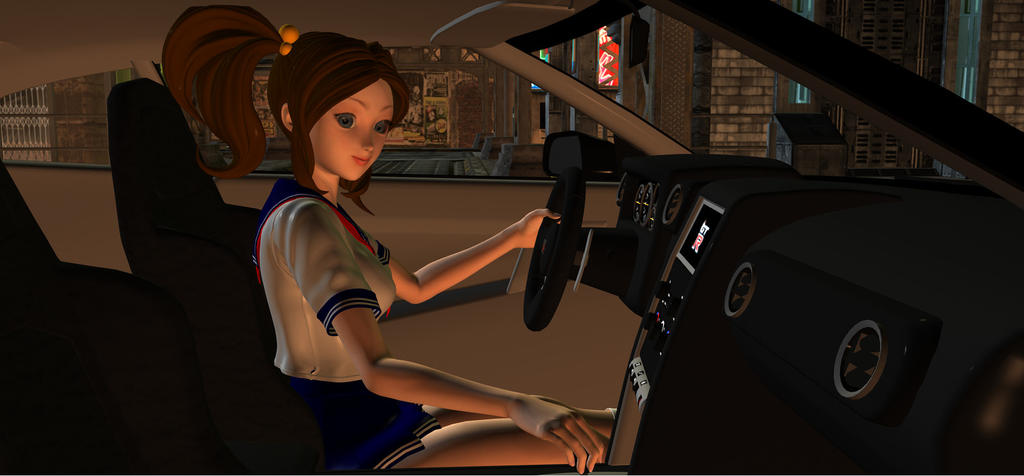 Xin Xin  Behind The Wheel by HectorNY