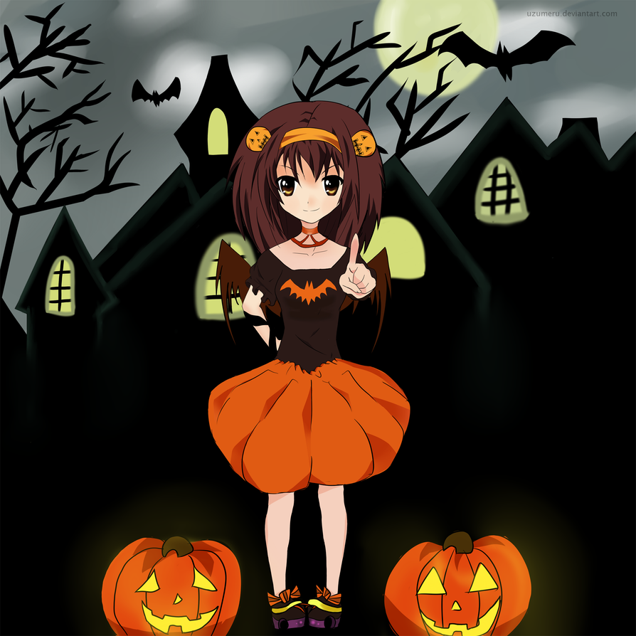 Happy Halloween - Haruhi Suzumiya by mervedokmeci