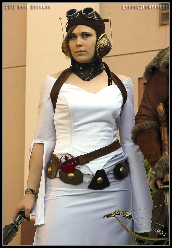 Steampunk Princess Leia by cyborgseamstress