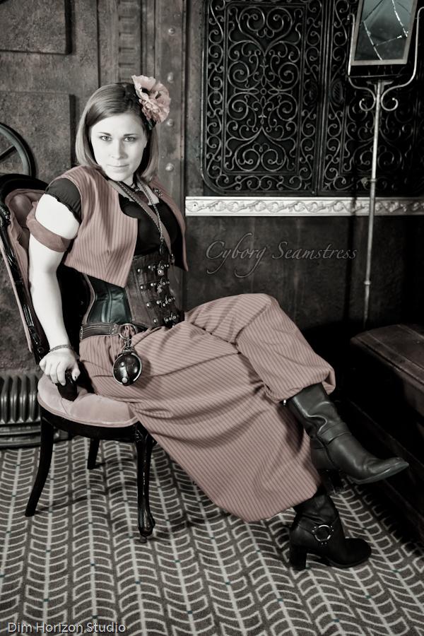 Steampunk Harem Outfit III by cyborgseamstress