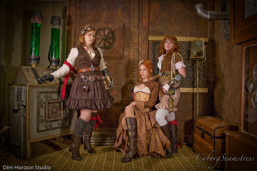 Steampunk Ladies by cyborgseamstress