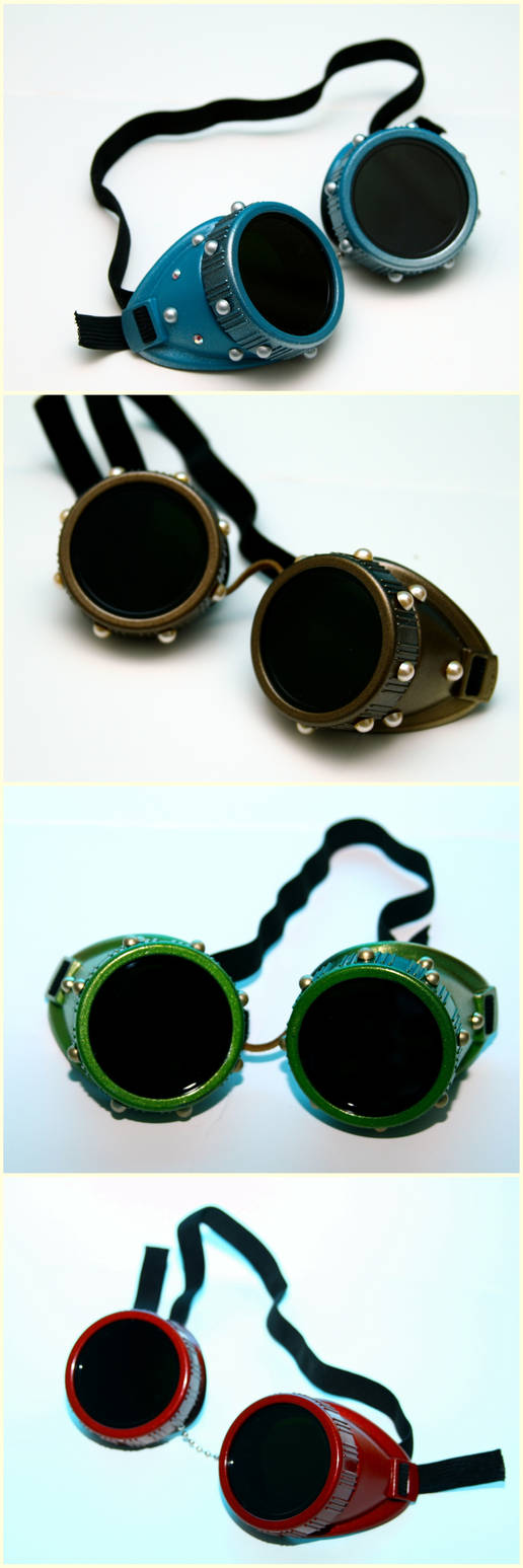 Colorful Steampunk Goggles