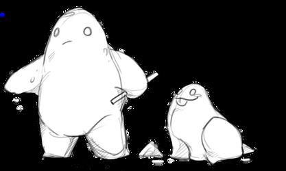 Widdle salt golems by asianpie