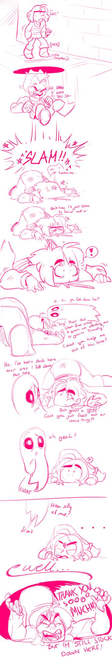 Undertale: Uselessblook damn it heeeeelp me you- by asianpie