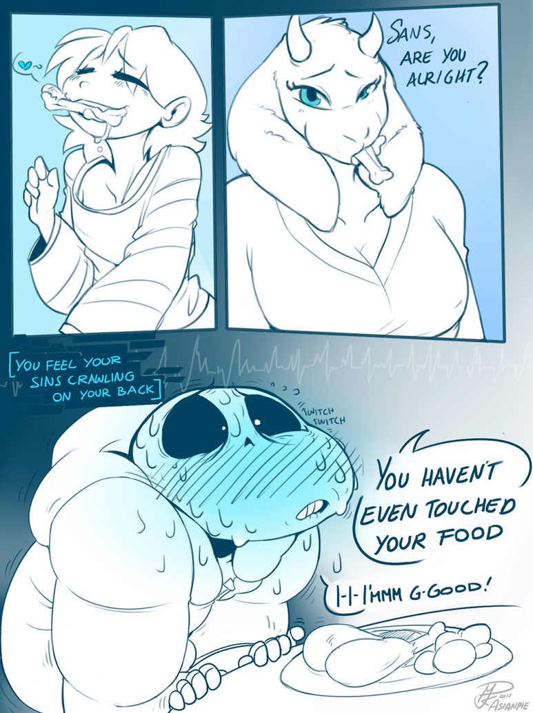 UNDERTALE - Eat your food~ WHITE by asianpie