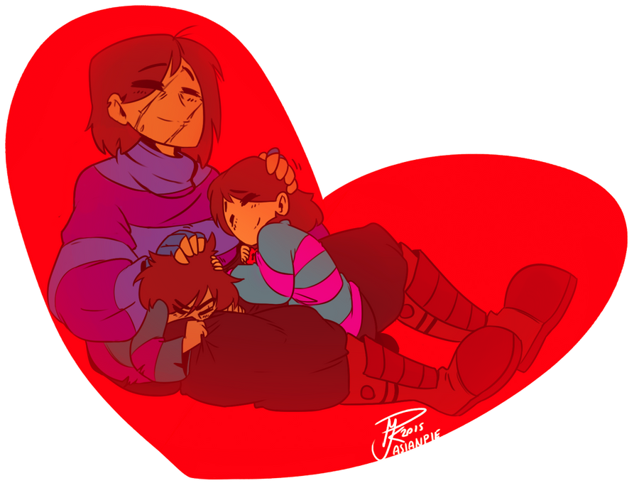 UNDERTALE: Frisk just nappin - me, myself and I by asianpie
