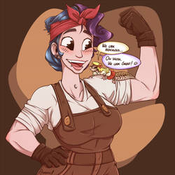 Las and her pancake [COM]