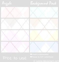Argyle Background Pack by Sukiie