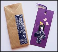 Bookmark purple by SuniMam