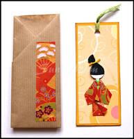 Bookmark orange - deco by SuniMam