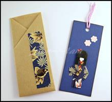 Bookmark - Blu - Little Japanese Doll by SuniMam