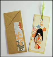SOLD - Bookmark-Little Japanese Doll by SuniMam
