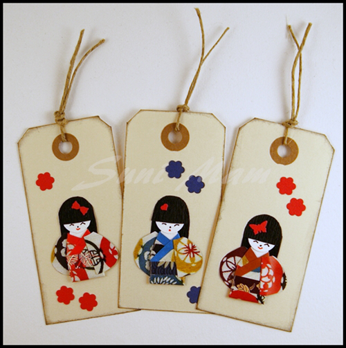 kimono doll bookmark   Оригами, Открытки, Закладки   503x500