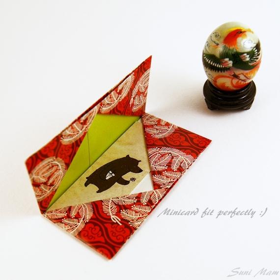 Origami gift card holder mini business card holder by sunimam on origami gift card holder mini business card holder by sunimam colourmoves