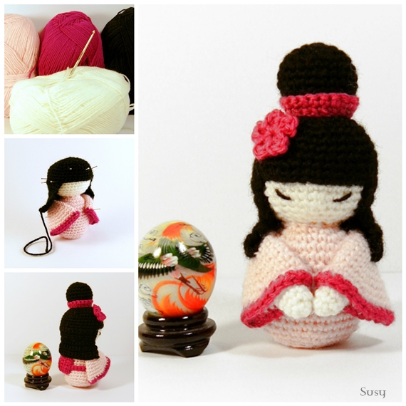 Amigurumi Japanese Patterns Free : Amigurumi Kokeshi by SuniMam on DeviantArt