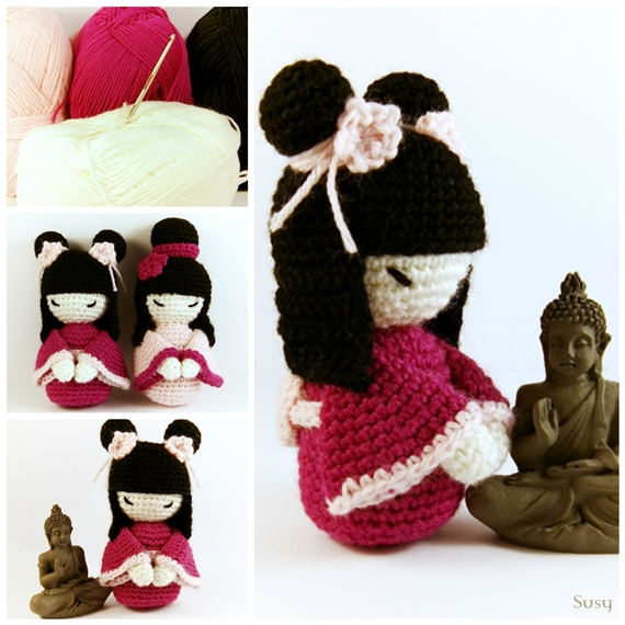 Amigurumi Free Patterns Geisha : Amigurumi Kokeshi (2) by SuniMam on DeviantArt