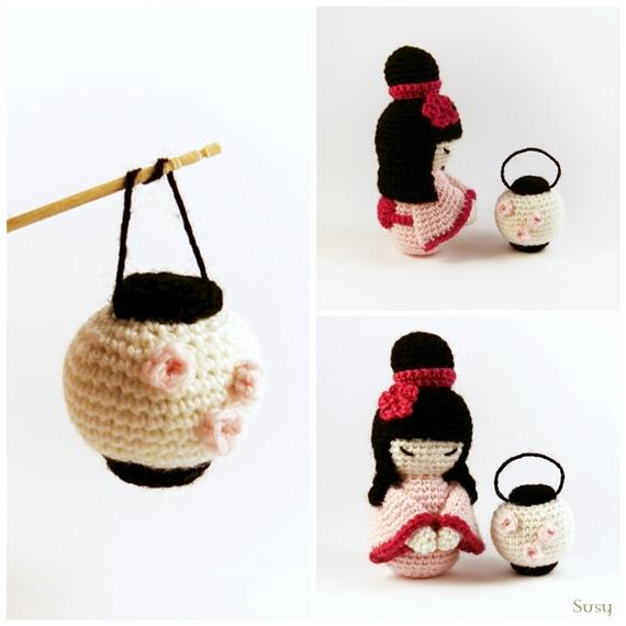 Kokeshi Amigurumi English Pattern | Crochet doll pattern, Kokeshi ... | 570x570