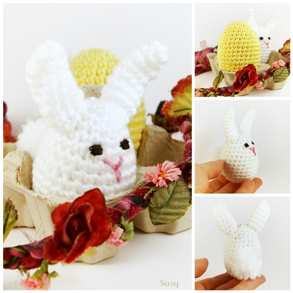 Amigurumi Bunny Egg : Amigurumi bunny and egg by SuniMam on DeviantArt