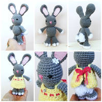 Amigurumi rabbit with removable dress by SuniMam