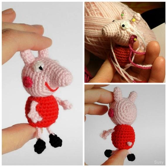 Amigurumi Peppa Pig Mini : Peppa Pig Mini Amigurumi by SuniMam on DeviantArt