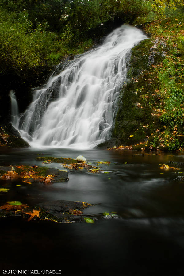 Green Peak Falls-Autumn by 11thDimensionPhoto