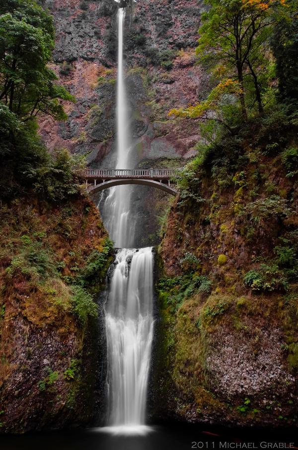 Multnomah Falls by 11thDimensionPhoto