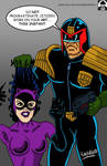 Judge Dredd and Catwoman - PSA by Psykhophear