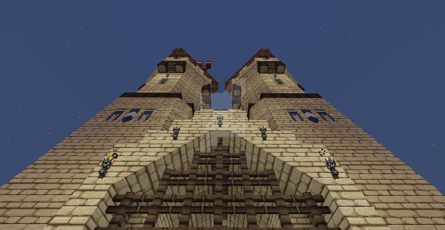 Minecraft Castle Front Gate By Undeadwarrior7411 On Deviantart