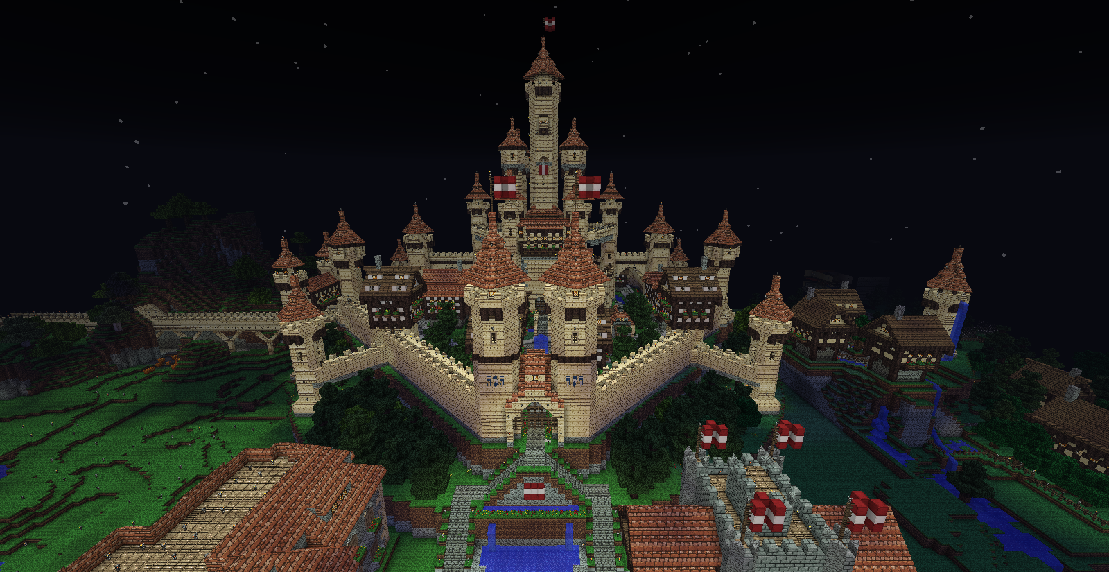 how to get a castle in minecraft