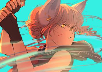 Lyn: Blade Dancer by 1-kmomochi