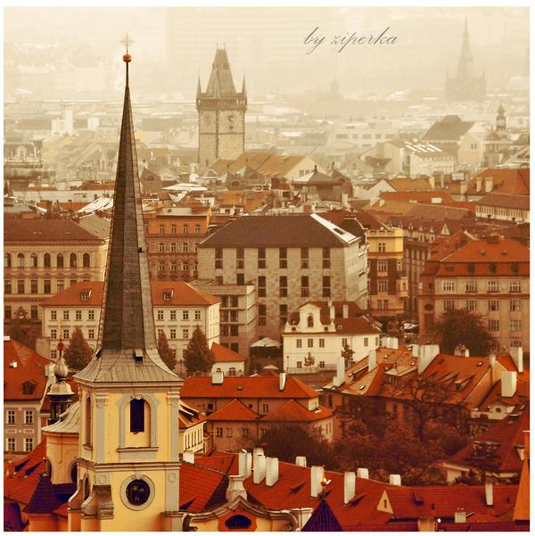 Golden Prague by ziperka