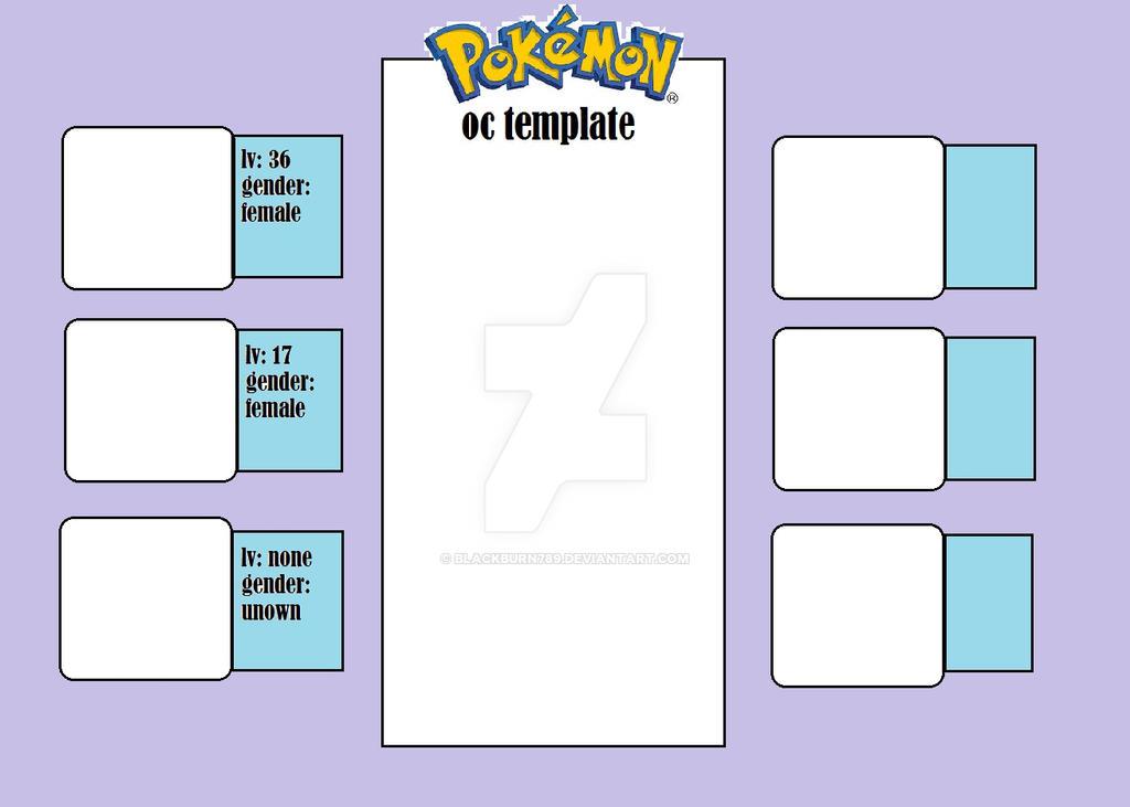 Unique pokemon oc template for blank ref sheet by on 98 pokemon go.