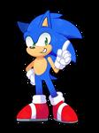 Chibi Modern Sonic