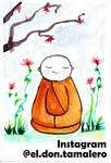 watercolor monk. (practice)  by Kazangha