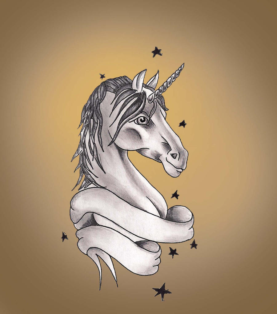 unicorn tattoo design by hausofch on deviantart. Black Bedroom Furniture Sets. Home Design Ideas