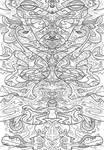 Symmetrical Line Art Doodle 6 - 2017 by JRoach