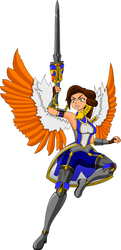Furia - The angel of vengeance - Paladins by BladeCut
