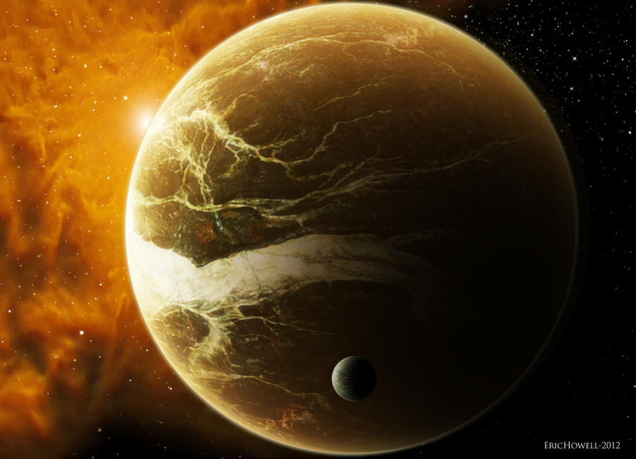 Planet design space art by erichowell on deviantart for Space art design