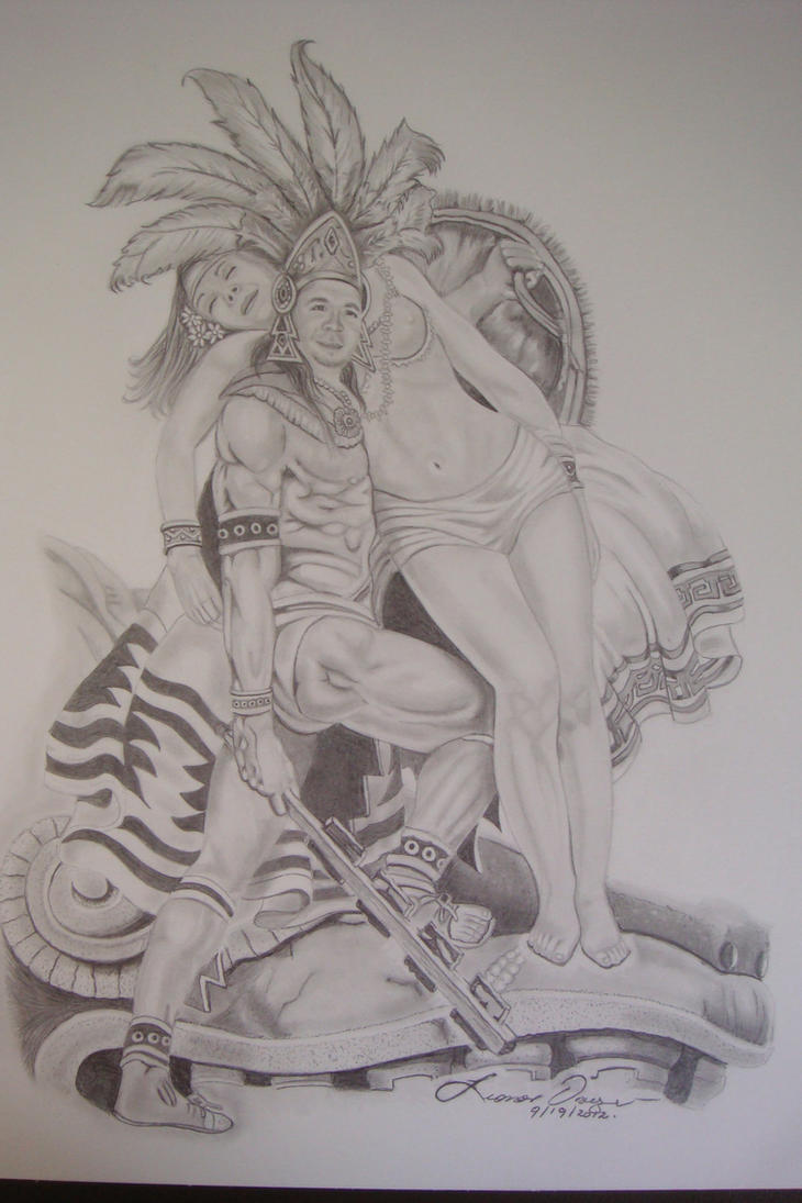 Aztec pencil drawings