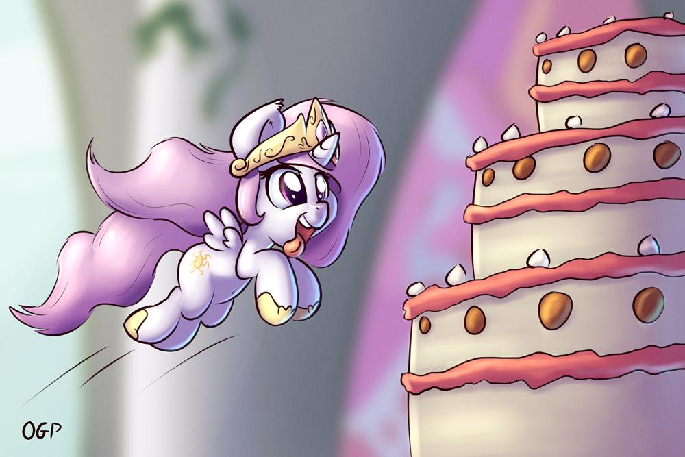 Filly Celestia wants Cake!