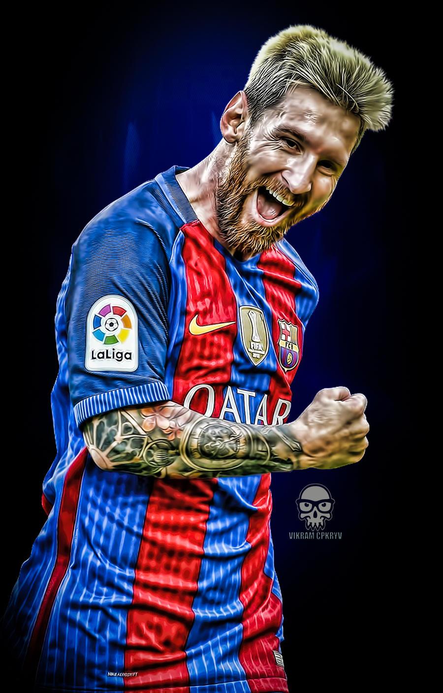 Messi Fc Barcelona Lockscreen Wallpaper By Vikramcpkryv On