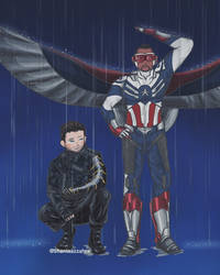 [COMMISSION] Captain America and The White Wolf