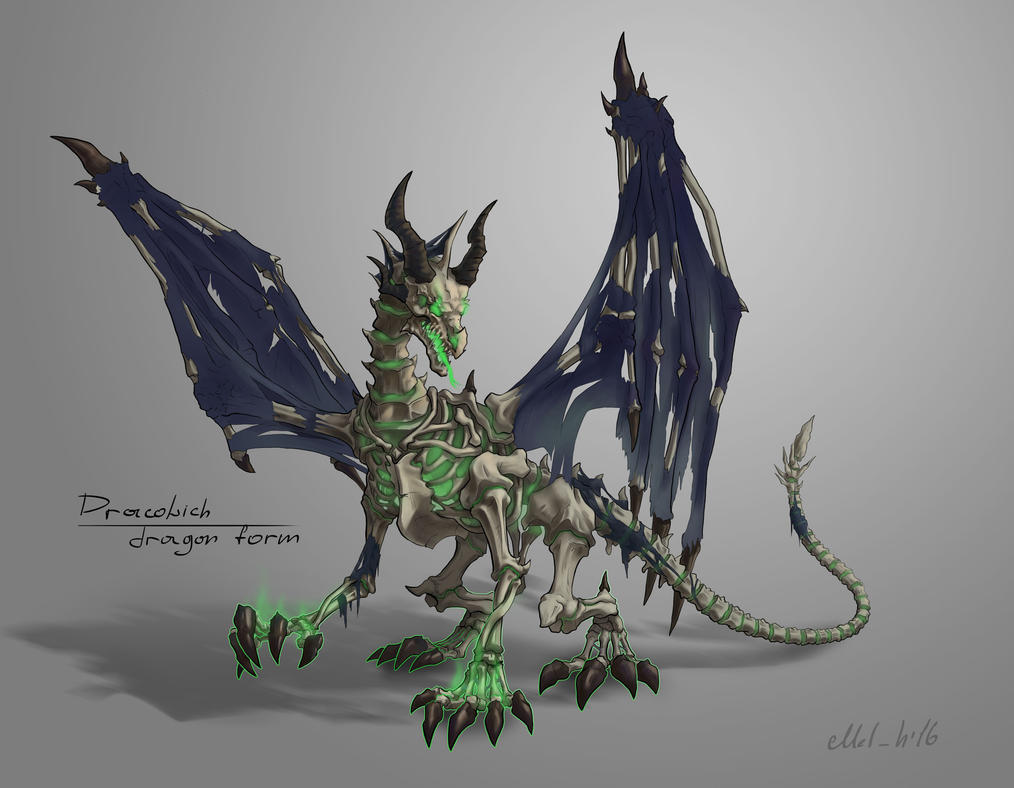 Dracolich (dragon form) by MelHamster on DeviantArt