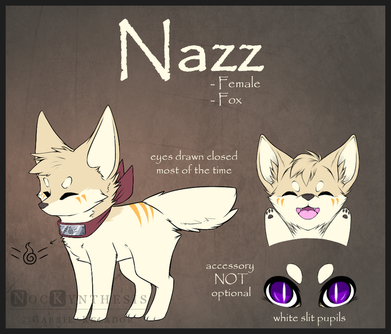 .:Nazz Ref Sheet 2015.: by NocKynthesis