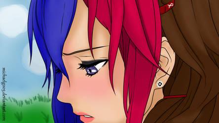 Finished Inori Yuzuriha lineart