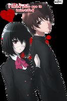 Misaki and Sakakibara by Haruhi250900