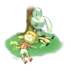 Rabbits by biffable